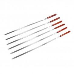 Набор шампуров с деревянными ручками BQ-0710(8)