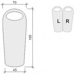 """Спальный мешок """"JUNIOR 300"""", цвет синий, """"R"""" правосторонняя застежка"""