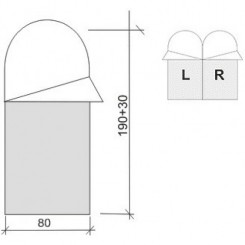 """Спальный мешок """"ASLEEP 200"""", цвет зелёный, """"L"""" левосторонняя застежка"""
