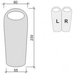 """Спальный мешок """"COMPACT 1400"""", цвет красный, """"L"""" левосторонняя застежка"""