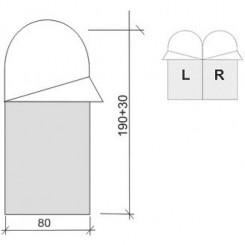 """Спальный мешок """"ASLEEP 200, цвет синий, """"L"""" левосторонняя застежка"""