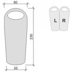 "Спальный мешок ""PHARAON EVO 300"", цвет зелёный, ""L"" левосторонняя застежка"