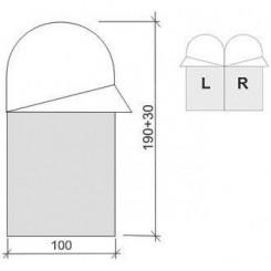 """Спальный мешок """"ASLEEP 400 WIDE"""", цвет синий, """"R"""" правосторонняя застежка"""