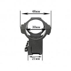 Крепления для фонарей алюм 1514 диам 30мм