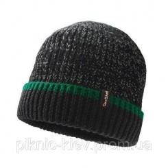 Шапка водонепроницаемая Dexshell Cuffed Beanie черная<br />с зеленой полосой S / M 56-58 см